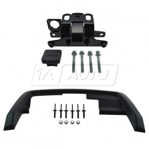 05-10 Jeep Grand Cherokee Complete Class 3 Trailer Hitch Receiver w/Jet Blk Bezel & Install Kit (MP)