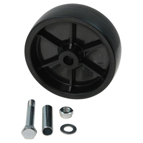 Plastic Replacement Trailer Caster Wheel w/ Bolt & Bushing