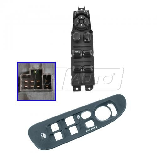 02-05 Dodge Ram 1500; 03-05 Ram 2500, 3500 Master Power Window Switch & Bezel Kit LF
