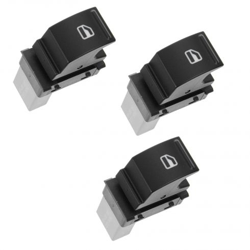 05-11 Volkswagen Multifit (One Button) Power Window Switch SET of 3