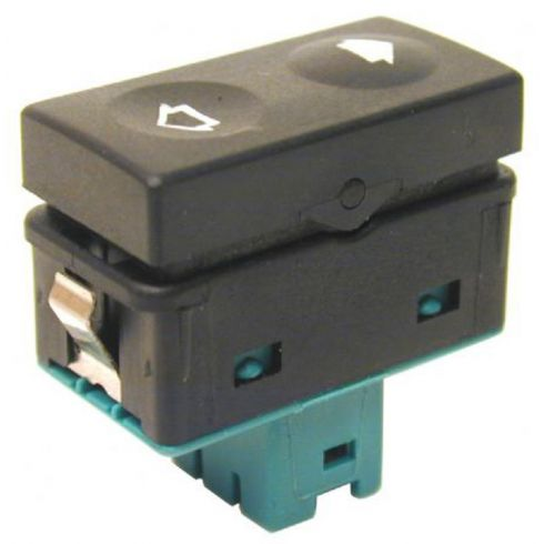 92-00 BMW 3 Series; 95-99 M3; 96-02 Z3 Single Button Power Wdw Switch (Green Base)