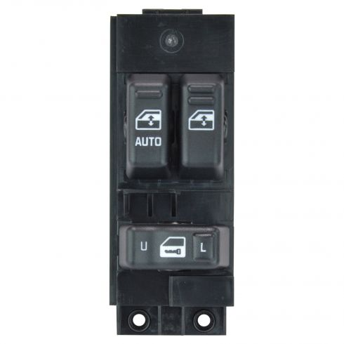 00-02 Silverado, Sierra 1500-3500 (exc Crew Cab) Black 3 Button Master Pwr Window Switch LF