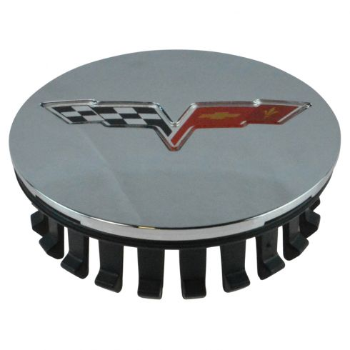 08-13 Chevy C6 Corvette Chrome Center Cap w/Crossed Flags Logo (GM)