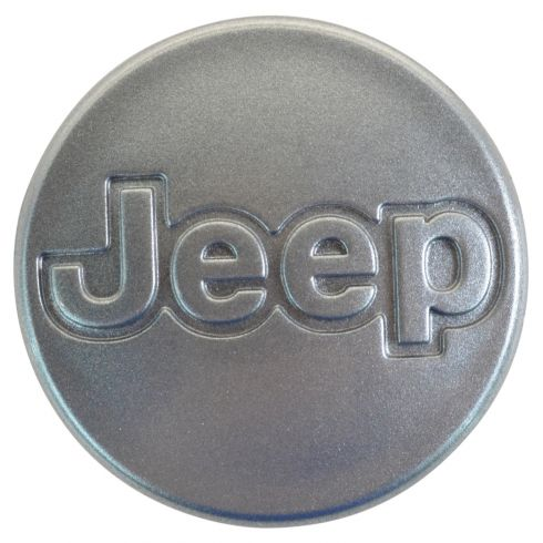 96-01 Jeep Cherokee; 97-06 Wrangler (w/15 x7 In, 5 Spoke Al Whl) Metalic Silver Center Cap (Mopar)