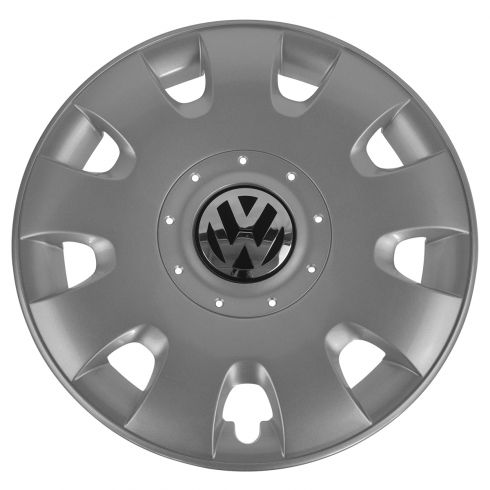 06-09 VW Rabbit; (08-09 Golf; 05-10 Jetta w/8th Vin Digit K); 15 Inch, 9 Slot Hub Cap (Volkswagen)
