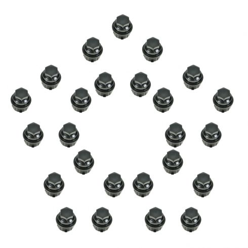 Lug Nut Cap Black (Set of 25)