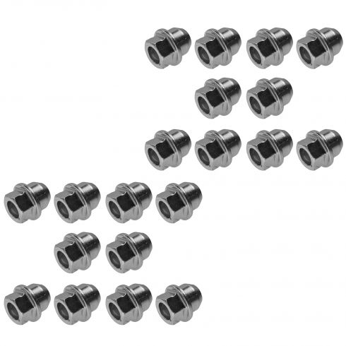 98-11 Ford, Mercury Multifit (1/2-20 x 1-5/32 in - 13/16 Hex) Zinc Wheel Lug Nut Set of 20