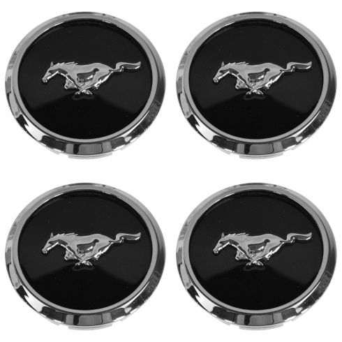 13-14 Mustang (Base w/16-17 In, GT w/16-18 in Alum) Wheel Center Cap w/Pony Logo (Set of 4) (Ford)