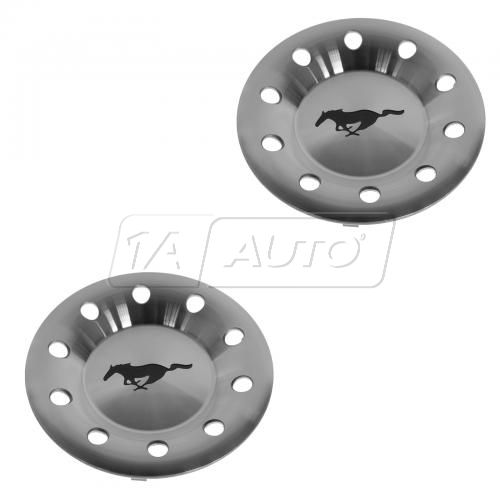 03-04 Ford Mustang (w/16 Alloy Whl) Mustang Horse Logoed Silver Center Cap Pair (Ford)
