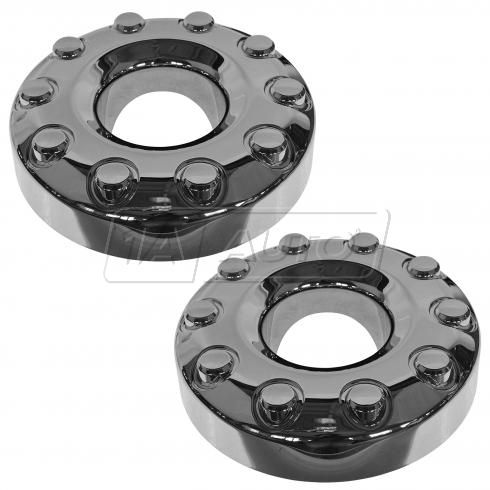 05-14 F450SD, F550SD (w/4WD, DRW, 10 Lug, 19.5 In); 11-14 F250SD Frt Chm Hub Ctr Cap Pair (Ford)