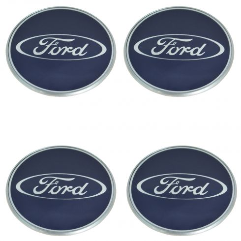 05-08 Focus (w/16 in Whl); 10-12 Taurus (w/18, 19, 20 in Whl) Ford Hub Cap Ctr Cap (Set of 4) (Ford)