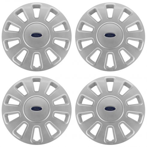 06-11 Ford Crown Victoria (w/17 Inch Wheel) Painted 10 Spoke Wheel Cover Hub Cap Set of 4 (Ford)