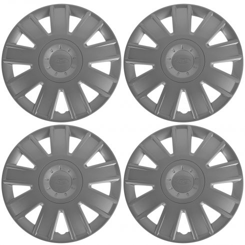04-07 Ford Focus (w/15 Inch Wheel) ~Ford~ Logoed 9 Spoke Hub Cap Wheel Cover (Set of 4) (Ford)