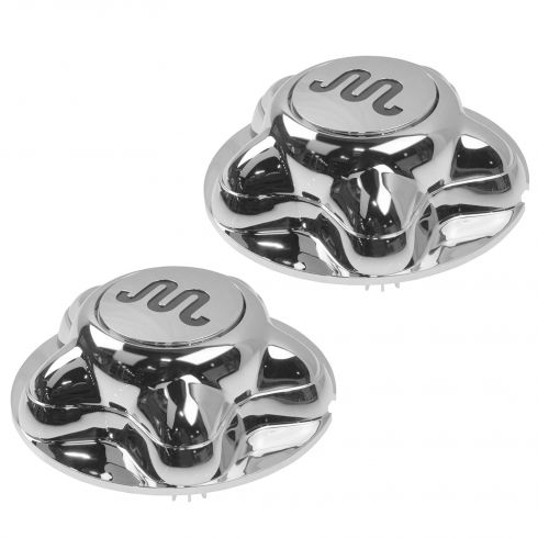 01-04 Ford F150 King Ranch Heritage ~King Ranch~ Logoed Chrome Center Cap Pair (Ford)