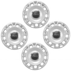 12-16 Fiat 500 Silver, Chrome, & Black w/~500~ Logoed Wheel Cover (Set of 4) (Fiat)