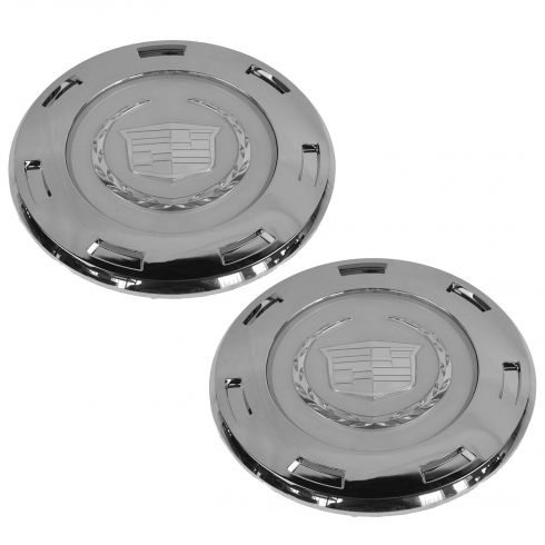 07-14 Escalade, ESV; 07-13 EXT; 09-13 Hybrid w/22 Inch 7-Spoke Wheel Chrome Center Cap Pair (GM)