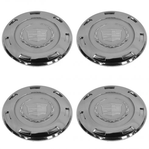 07-14 Escalade, ESV; 07-13 EXT; 09-13 Hybrid w/22 Inch 7-Spoke Wheel Chrome Center Cap Set (GM)