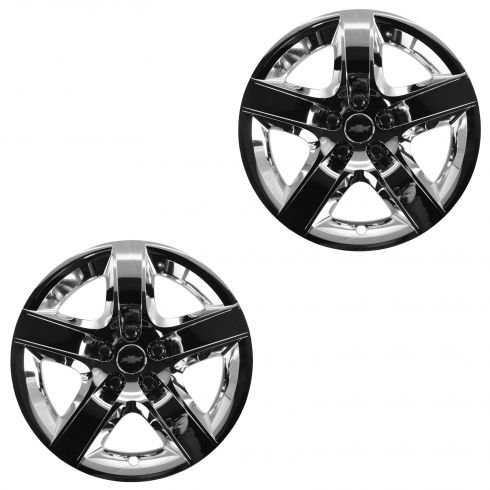 08 Malibu New Body; 09-12 Malibu LT (w/17 In Whls) Bowtie Logo Chrome 5 Spoke Wheel Cover Pair (GM)