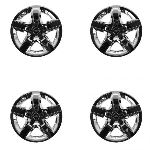 08 Malibu New Body; 09-12 Malibu LT (17 In Whl) Bowtie Logo Chrome 5 Spoke Wheel Cover Set of 4 (GM)
