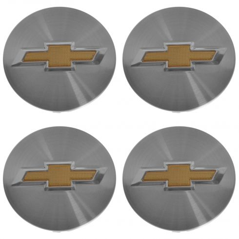 11-15 Vlt, Crze; 14-15 Impla; 13-15 Malibu; 13-14 Mlbu Hyb Gold Bowtie Center Cap Set of 4 (GM)