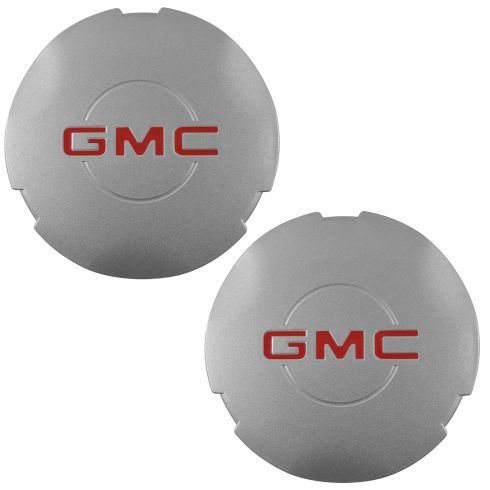 03-04 Savana; 99-05 Sierra 1500; 00 Yukon 1500 w/16 In Wheel ~GMC~ Logo Center Cap Pair (GM)