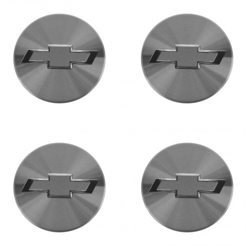 10-15 Chevy Camaro (w/Alum Whl) Silver w/Satin ~Bowtie~ Logoed Wheel Center Cap (Set of 4) (GM)