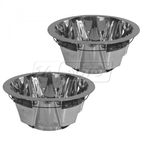 08-10 Silverado, Sierra 3500, 3500HD DRW Rear Wheel Chrome Outer Hub Cap PAIR