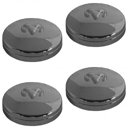 03-14 Dodge Ram 3500 DRW (w/17 x 6 Inch Wheel) Front/Rear Wheel Chrome Center Cap (Set of 4) (MOPAR)
