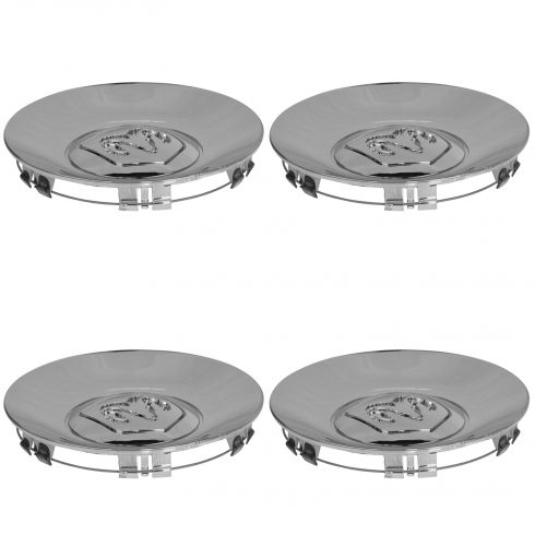 02-04 Dodge Dakota; 02-03 Durango (w/17 Inch Wheel) Rams Head Chrome Center Cap Set of 4 (Mopar)