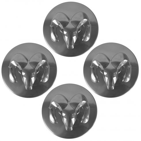 05-06 Drngo; 05-07 Dkta; 04-05 1500; 08-11 Calibr Silver Ram Logo Center Cap Set of 4 (Mopar)