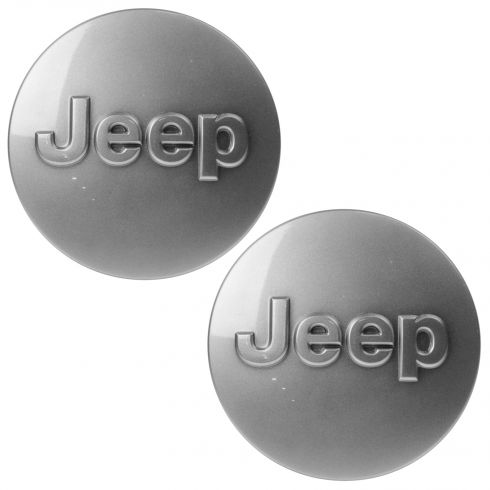 11-15 Jeep Wrangler, Gr Cherokee (w/Whl Code: WFY, WPF, WPJ) Gray ~Jeep~ Logoed Center Cap Pair(Mp)