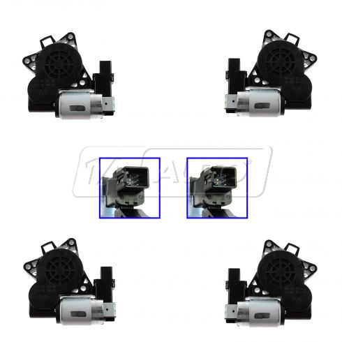 12-13 06-07 Mazda 6 Mazdaspeed Speed6 Power Window Motor (Set of 4)