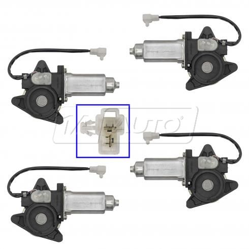 92-96 Toyota Camry Power Window Motor Kit Front & Rear (Set of 4)