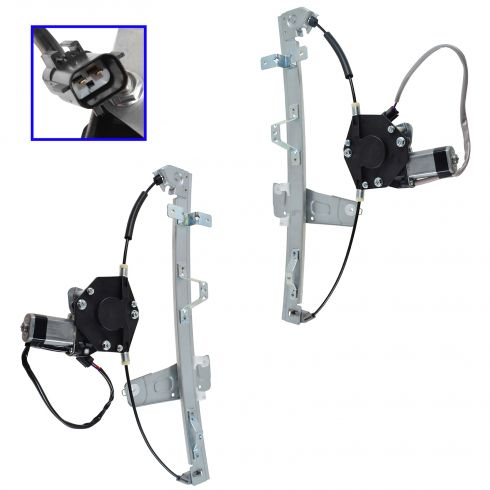 99-00 Grand Cherokee Window Regulator w/Motor Front Pair