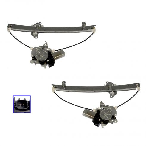 I30 I35 Maxima Window Regulator W/ 2 Pin Motor Frt PAIR
