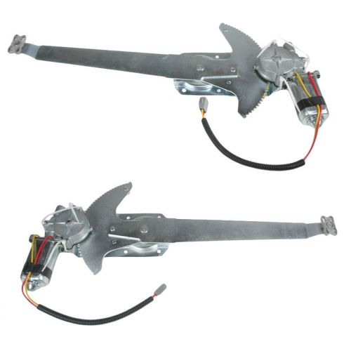 1981-96 Ford F-150 F250 Bronco Window Regulator Power With Motor Pair