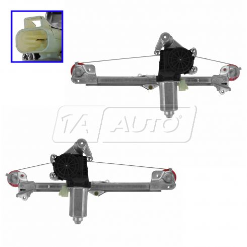 Power Window Regulator & Motor Rear Pair