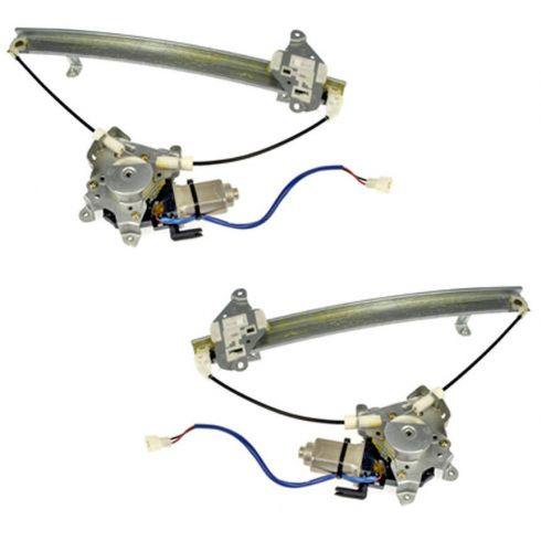 02-06 Mitsubishi Lancer Window Regulator With Motor Rear Pair