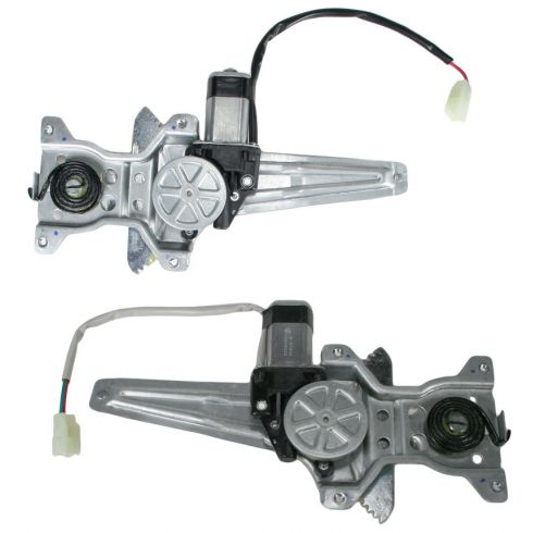 02-06 Toyota Camry Power Window Regulator w/Motor Rear Pair