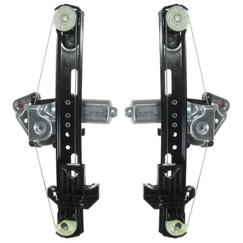 00-06 Lincoln LS Power Window Regulator w/Motor REAR PAIR
