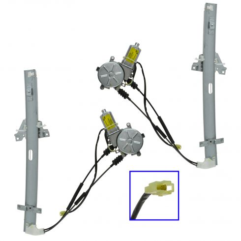 99 (from 5/11/98) Kia Sportage 2DR Power Window Regulator w/Motor PAIR