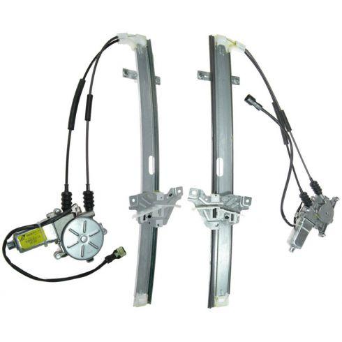 01-02 Kia Sportage 2DR Power Window Reg w/Motor FRONT PAIR