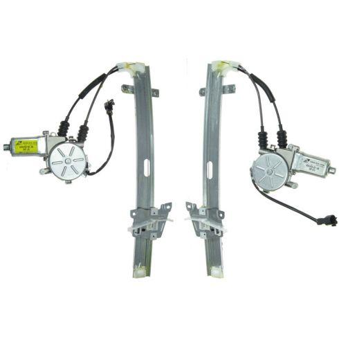 (8/99)-00 Kia Sportage 4Dr Rear Door Power Window Reg w/Motor REAR PAIR