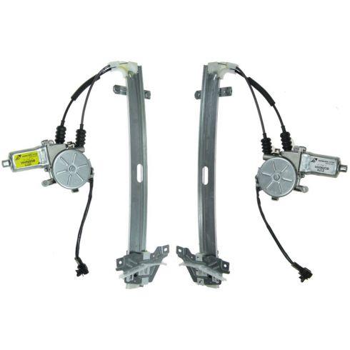 01-02 Kia Sportage 4Dr Rear Door Power Window Reg w/Motor REAR PAIR