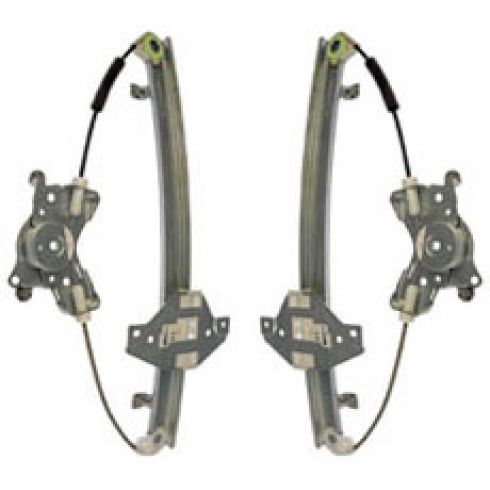 01-02 Kia Magentis, Optima Power Window Regulator w/o Motor Rear PAIR