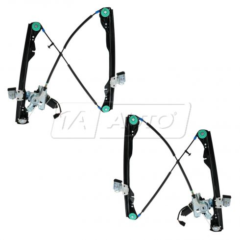 01-07 Ford Focus 4dr Pwr Window Regulator w/Mtr PAIR