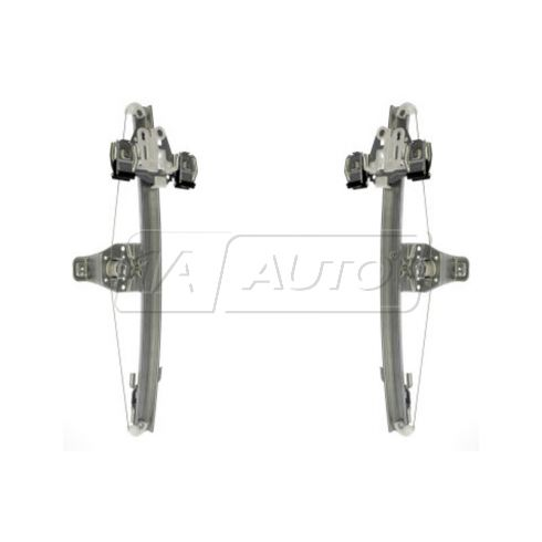07-09 Silverado Sierra Ext Cab Manual Window Regulator PAIR