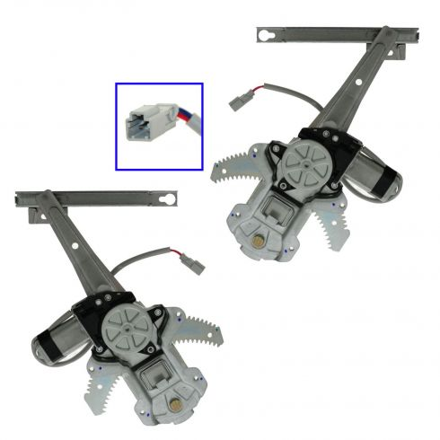 1997-01 Honda CR-V Power Window Regulator w/Motor PAIR