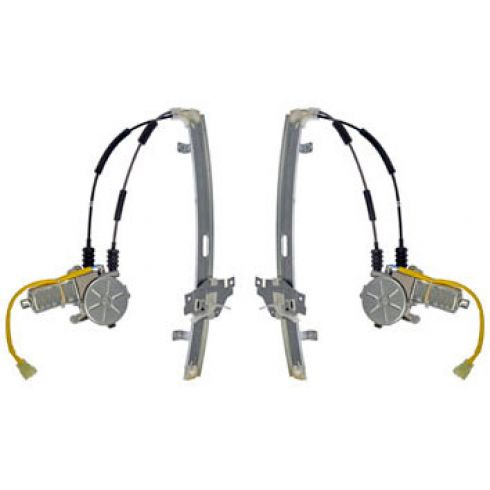 1998-00 (thru 5/16/99) Kia Sephia Power Window Regulator w/Motor Front PAIR