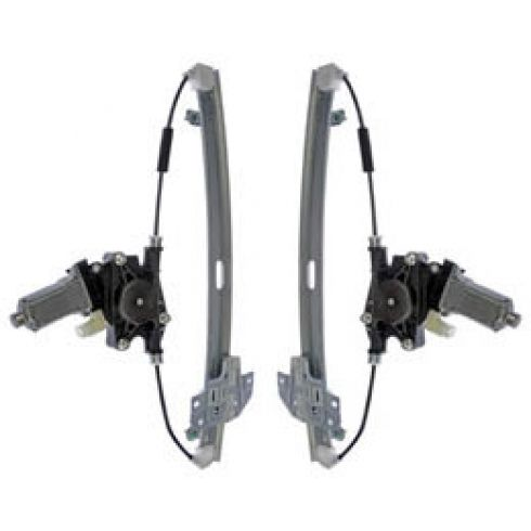 2006-11 Kia Rio; 06-11 Hyundai Accent Sedan Power Window Regulator w/Motor Rear PAIR